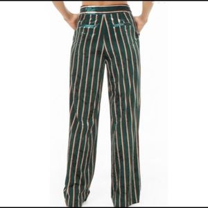 Forever 21 velvet stripped pants